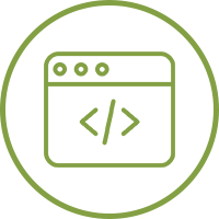 Small green icon of web browser